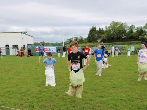 Sports Day Fun with Darley National School and St Ninnidh's Primary School
